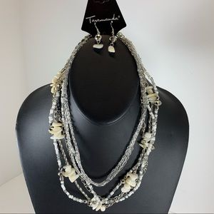 Jewelry - 5/$25 Silver Short Chunky beaded Necklace set